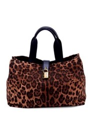 Dolce And Gabbana Leopard Print Tote