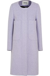 Issa Percy Wool Blend Twill Coat Purple