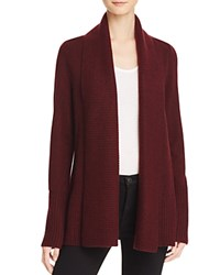 Bloomingdale's C By Shawl Collar Cashmere Cardigan Marled Cabernet