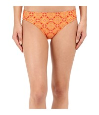 Prana Lani Bottom Neon Orange Sundial Women's Swimwear Yellow