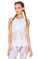 Alo Yoga Vixen Fitted Muscle Tank White