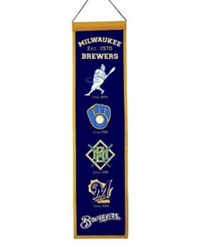 Winning Streak Milwaukee Brewers Heritage Banner Team Color