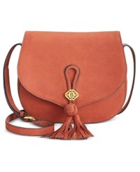 Nanette Lepore Santa Ana Saddle Flap Crossbody Whiskey