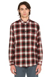 Obey Dobbs Button Down Red