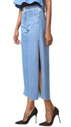 Sjyp Side Cut Wide Leg Jeans Denim Blue