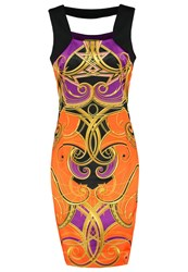 Versace Jeans Cocktail Dress Party Dress Papaya Orange