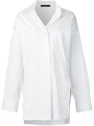 Victor Alfaro Side Slit Shirt White