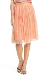 Women's Needle And Thread Tulle Midi Skirt