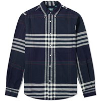 Gitman Brothers Vintage Big Check Flannel Shirt Blue