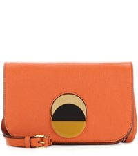 Marni Leather Crossbody Bag Orange