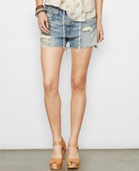 Denim And Supply Ralph Lauren Distressed Denim Boyfriend Shorts Thompson