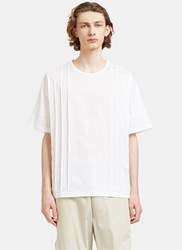 E.Tautz Collection Oversized Pleated T Shirt White