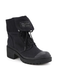 Marc By Marc Jacobs Army Canvas Lace Up Boots Black