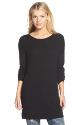 Women's Caslon Rib Knit Tunic Sweater Black