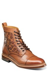 Stacy Adams M2 Laser Cut Boot Cognac Leather