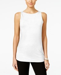 Inc International Concepts Petite Boat Neck Tank Top Only At Macy's Bright White
