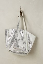 Anthropologie Frida Tote Silver