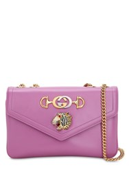 Gucci Tiger Rajah Leather Shoulder Bag Lilac
