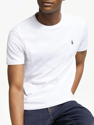 Ralph Lauren Polo Short Sleeve Custom Fit Crew Neck T Shirt White