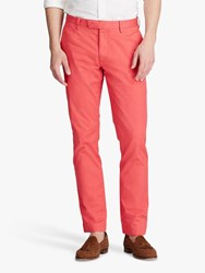 Ralph Lauren Polo Slim Fit Stretch Cotton Trousers Spring Red
