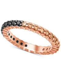 Macy's Bicolor Diamond Eternity Band 1 Ct.T.W. In 14K Rose Or White Gold Rose Gold