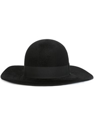 Saint Laurent Wide Brim Hat Black