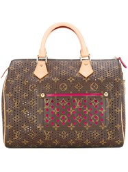 Louis Vuitton Vintage Speedy 30 Tote Bag Brown