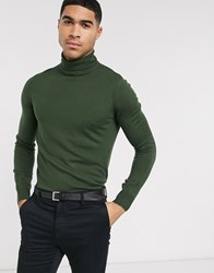 Rudie Roll Neck Jumper Green