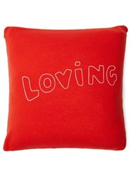 Bella Freud Loving Wool Blend Cushion Red