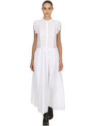 Zadig And Voltaire Cotton Long Dress W Lace Trim White
