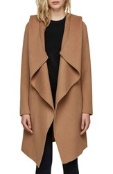 Soia And Kyo Hooded Wool Blend Coat Almond