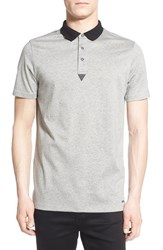 Men's Hugo 'Dalaska' Slim Fit Polo Grey