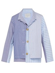 By Walid Fred Layered Cotton Jacket Light Blue