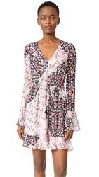 Rebecca Minkoff June Dress Tricolor Floral Print