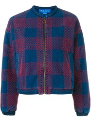 Mih Jeans 'Selvy' Embroidered Pattern Jacket Blue