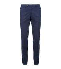 Canali Slim Fit Chinos Male Navy
