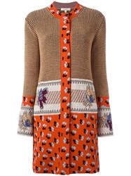 Etro Multi Embroidery Dress Brown