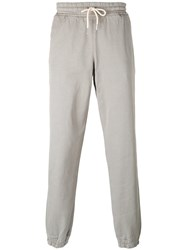 Soulland Cuffed Hem Drawstring Trousers Grey