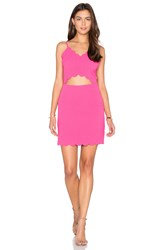 J.O.A. Front Cutout Bodycon Mini Dress Pink