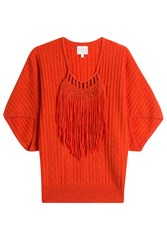 Claudia Schiffer Wool Pullover With Cashmere Orange