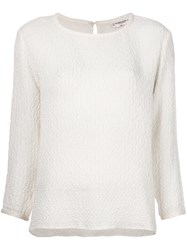 Yves Saint Laurent Vintage Ruched Detail Top White