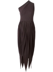 Romeo Gigli Vintage Asymmetric Dress Brown