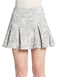 Derek Lam Pleated Mini Skirt Blue