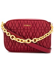 Furla Cometa Quilted Camera Bag Red