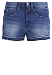 G Star Gstar Arc 3D High Short Denim Shorts Wisk Denim Dark Blue Denim