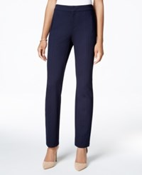 Charter Club Slim Leg Pants Only At Macy's Deepest Navy