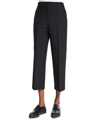 Edun Wide Leg Cropped Skater Pants Black