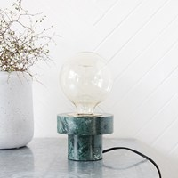House Doctor Pin Table Lamp Green Marble