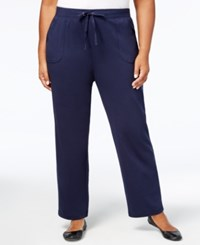 Karen Scott Plus Size French Terry Pants Created For Macy's Intrepid Blue