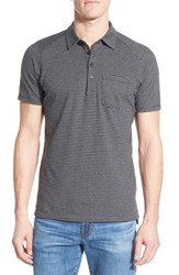 Men's Nau 'Echo' Stripe Jersey Organic Cotton Polo Caviar Stripe
